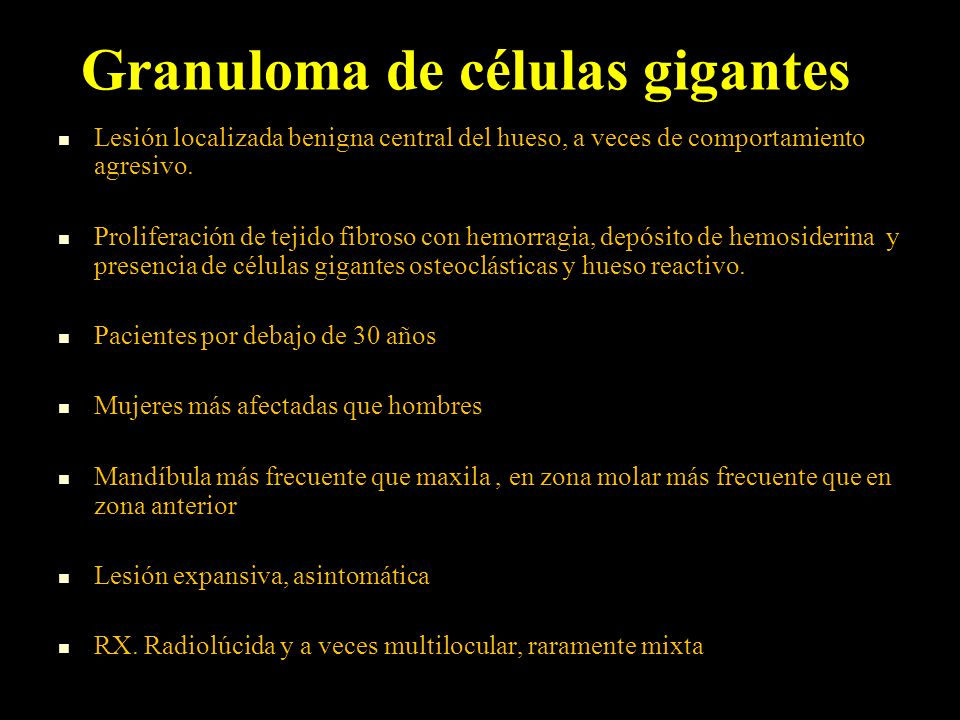 Granuloma de células gigantes