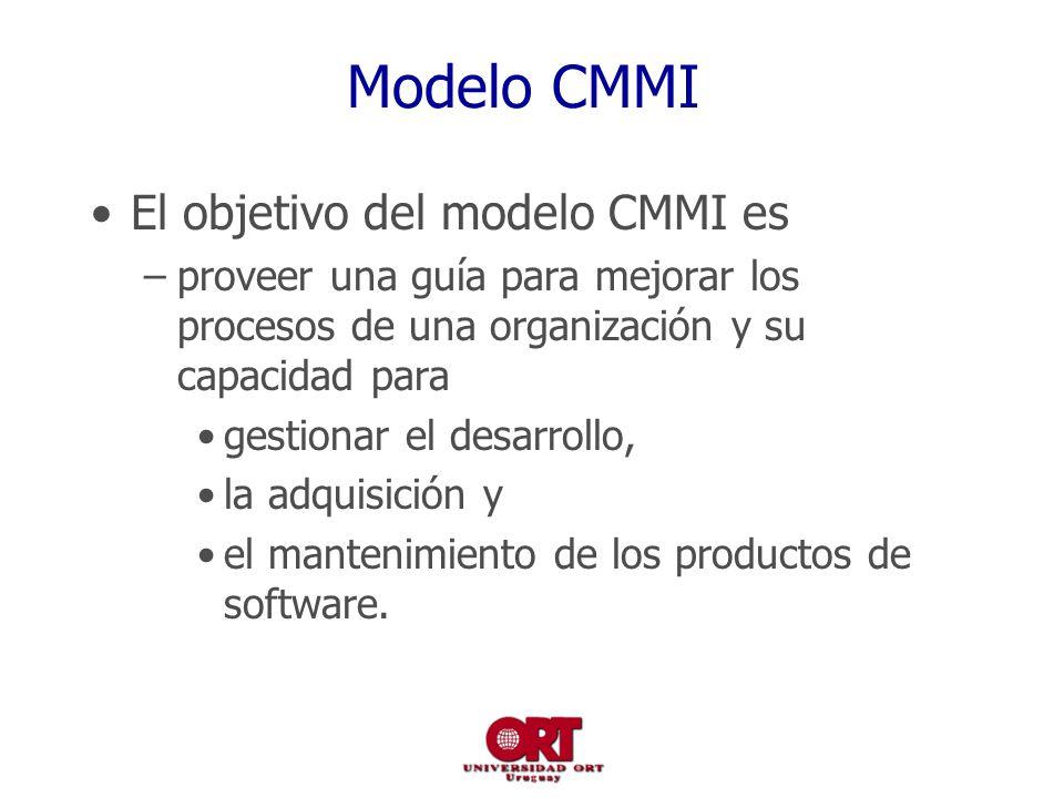 Modelo CMMI El objetivo del modelo CMMI es