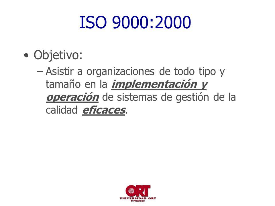 ISO 9000:2000 Objetivo: