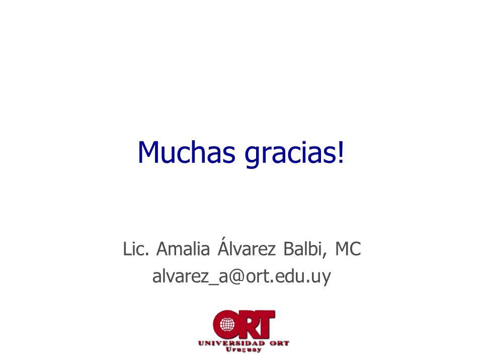 Lic. Amalia Álvarez Balbi, MC alvarez_a@ort.edu.uy
