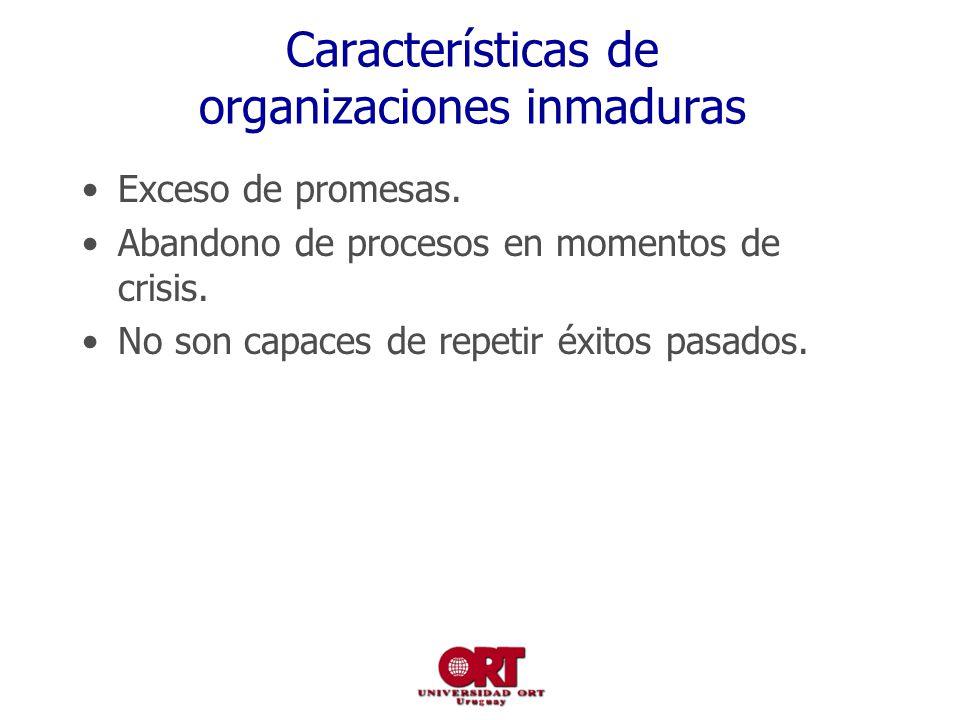 Características de organizaciones inmaduras