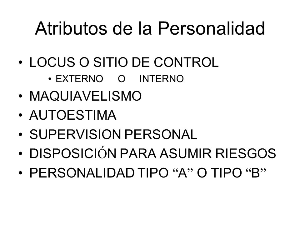 Atributos de la Personalidad
