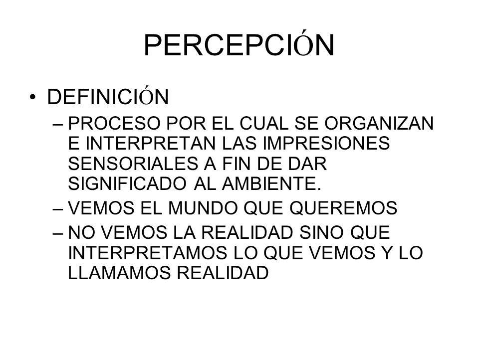 PERCEPCIÓN DEFINICIÓN