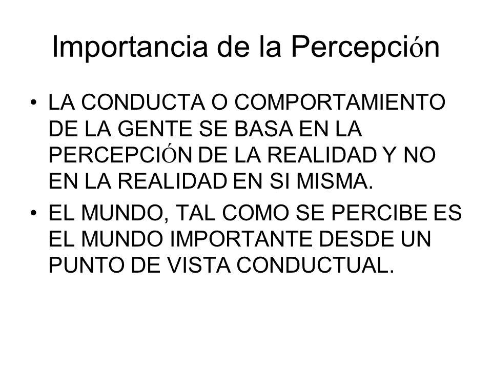 Importancia de la Percepción