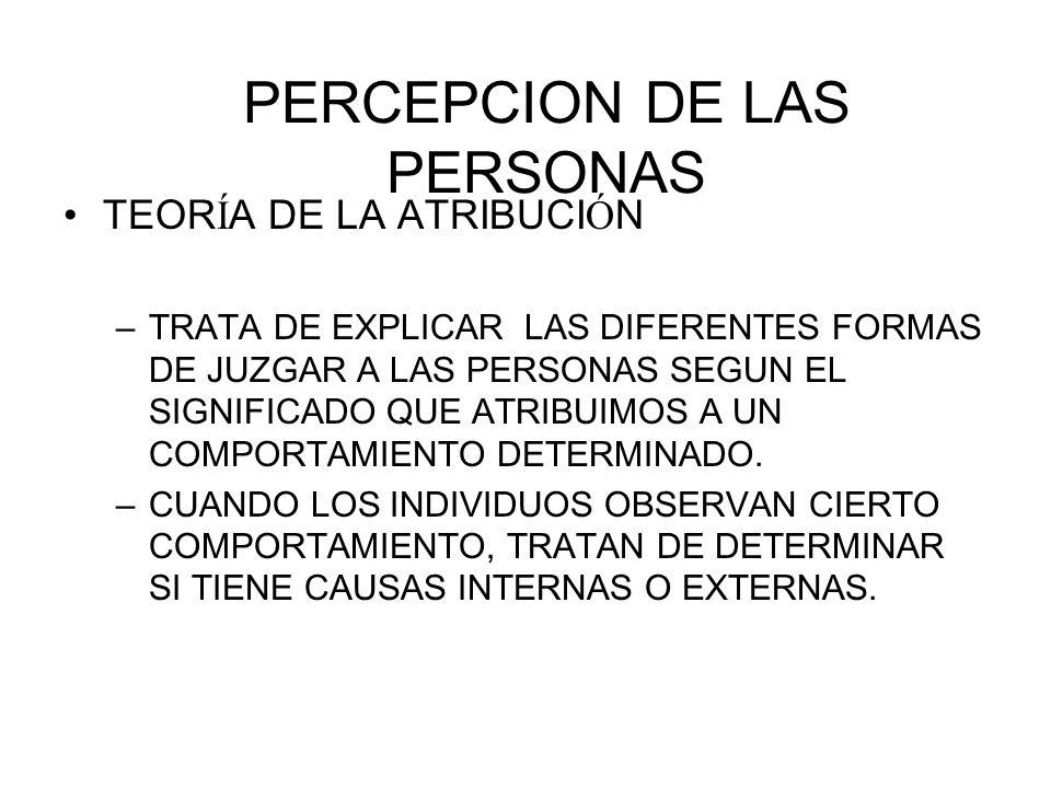 PERCEPCION DE LAS PERSONAS
