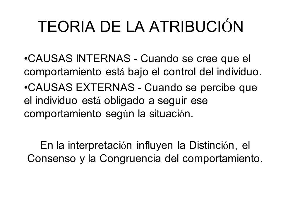 TEORIA DE LA ATRIBUCIÓN