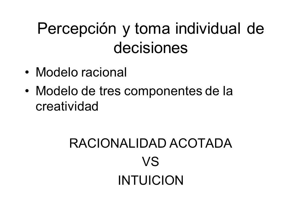 Percepción y toma individual de decisiones