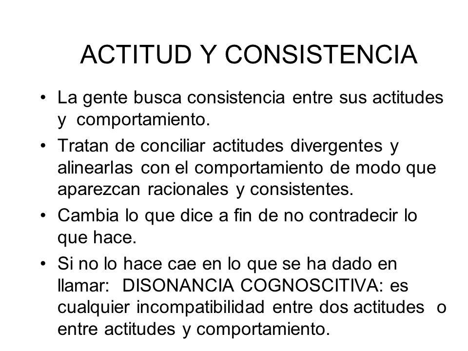 ACTITUD Y CONSISTENCIA