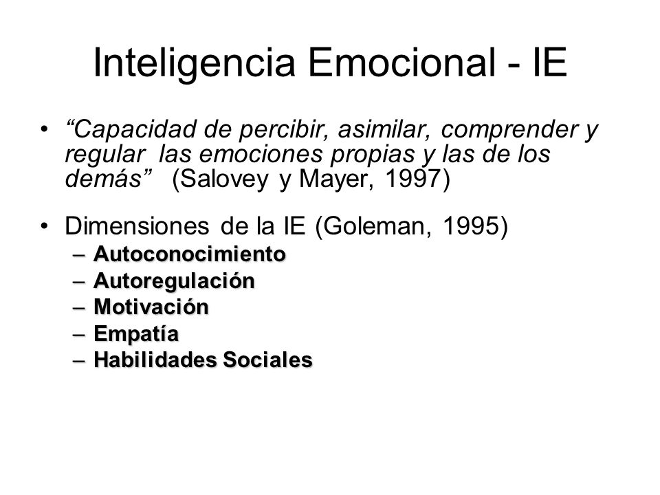 Inteligencia Emocional - IE