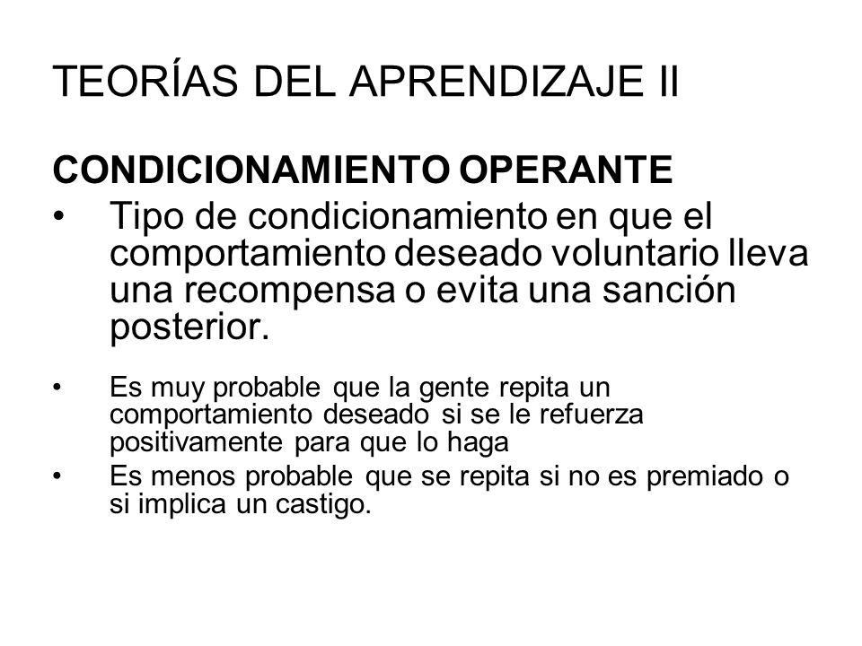TEORÍAS DEL APRENDIZAJE II