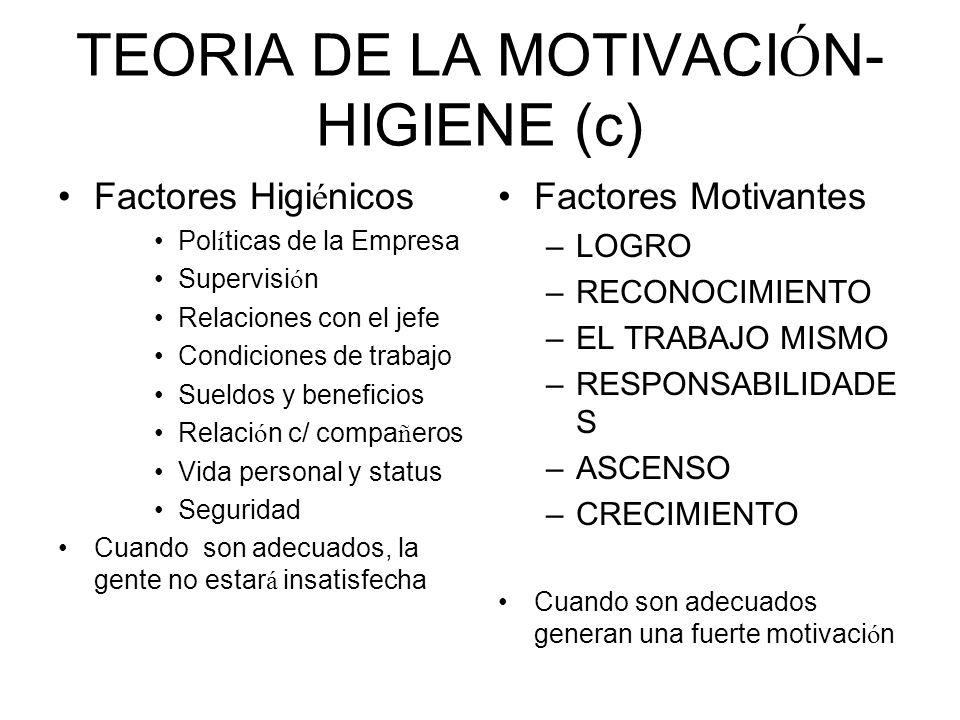 TEORIA DE LA MOTIVACIÓN-HIGIENE (c)