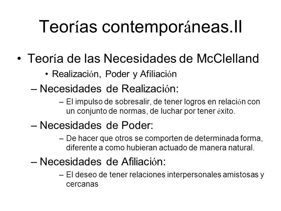 Teorías contemporáneas.II