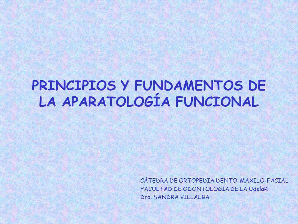 PRINCIPIOS Y FUNDAMENTOS DE LA APARATOLOGÍA FUNCIONAL