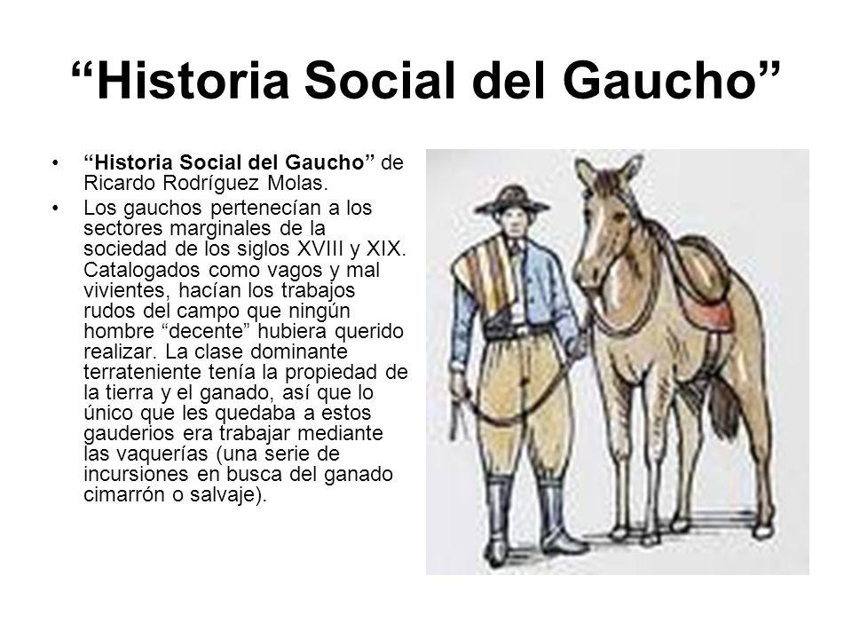 Historia Social del Gaucho
