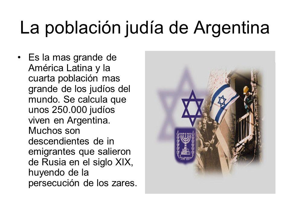 La población judía de Argentina