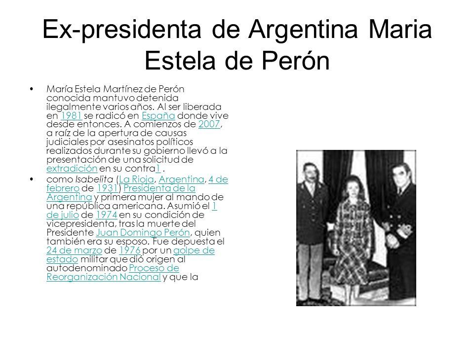 Ex-presidenta de Argentina Maria Estela de Perón