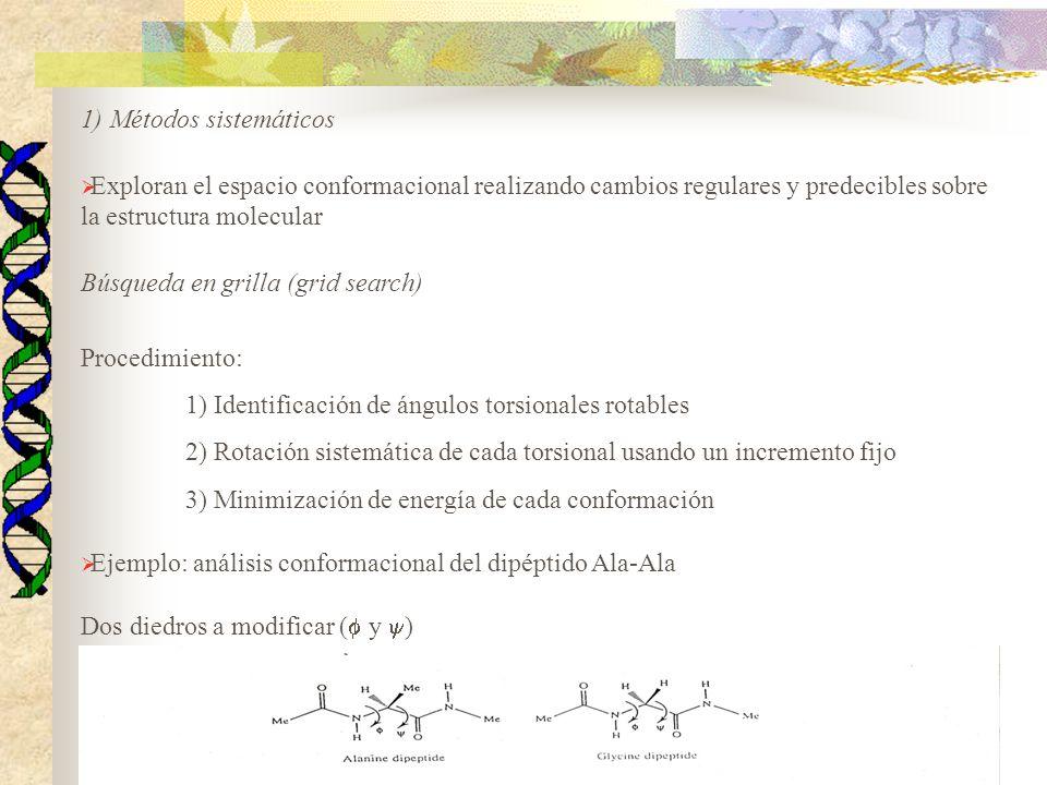 1) Métodos sistemáticos