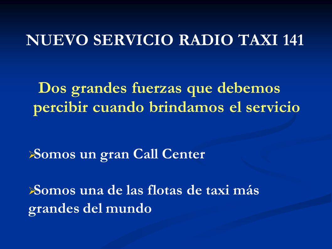 NUEVO SERVICIO RADIO TAXI 141