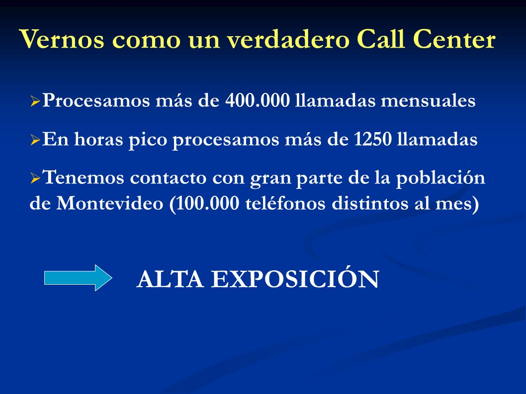 Vernos como un verdadero Call Center
