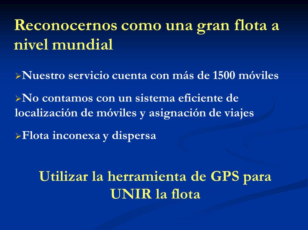 Utilizar la herramienta de GPS para UNIR la flota