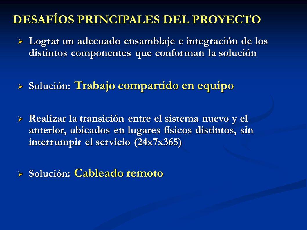 DESAFÍOS PRINCIPALES DEL PROYECTO