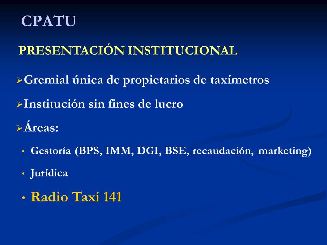 CPATU Radio Taxi 141 PRESENTACIÓN INSTITUCIONAL