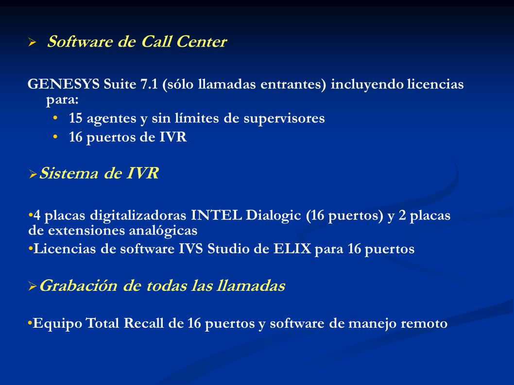Software de Call Center