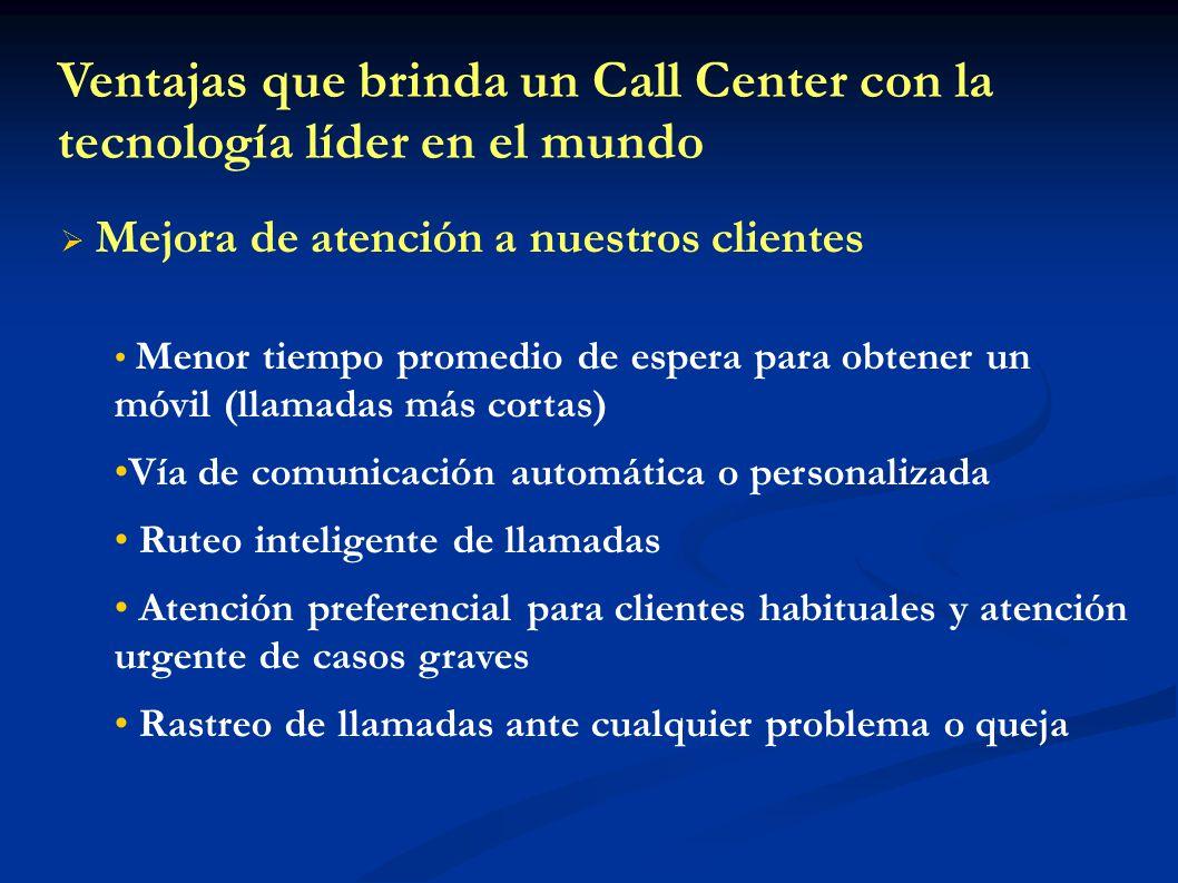 Ventajas que brinda un Call Center con la tecnología líder en el mundo