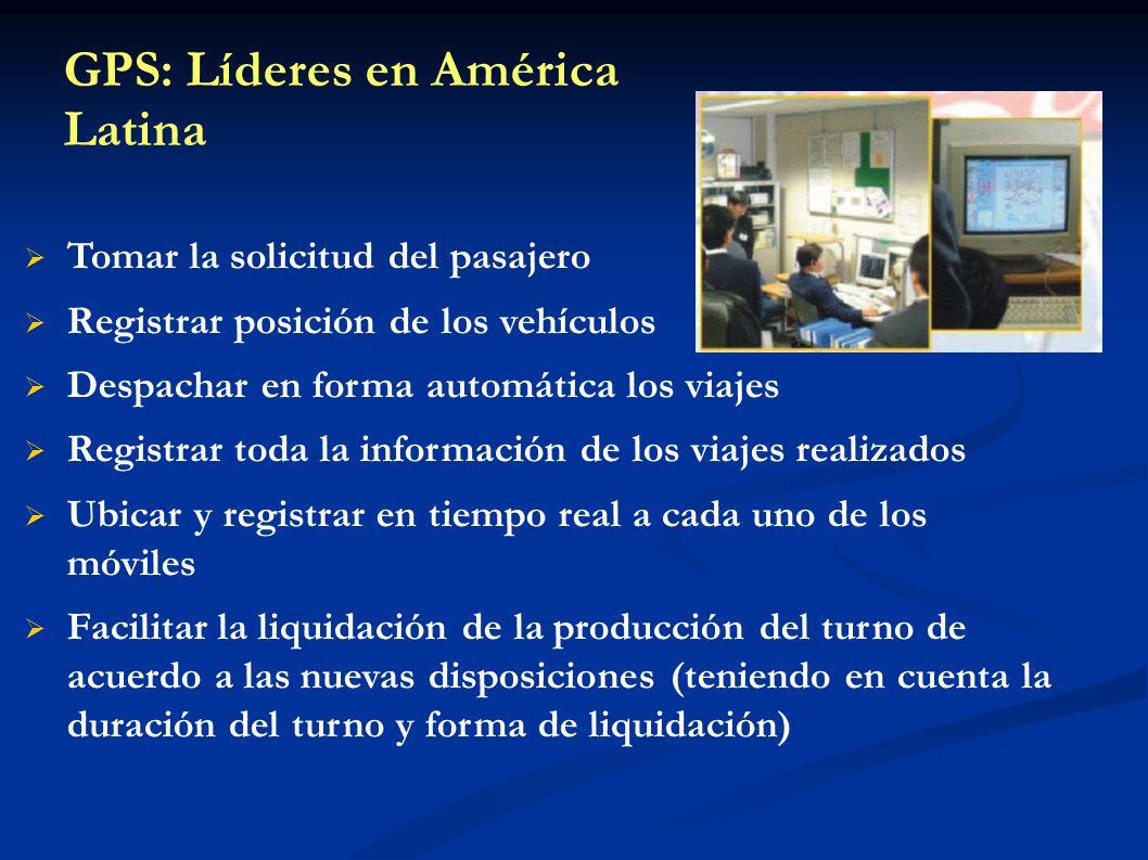 GPS: Líderes en América Latina