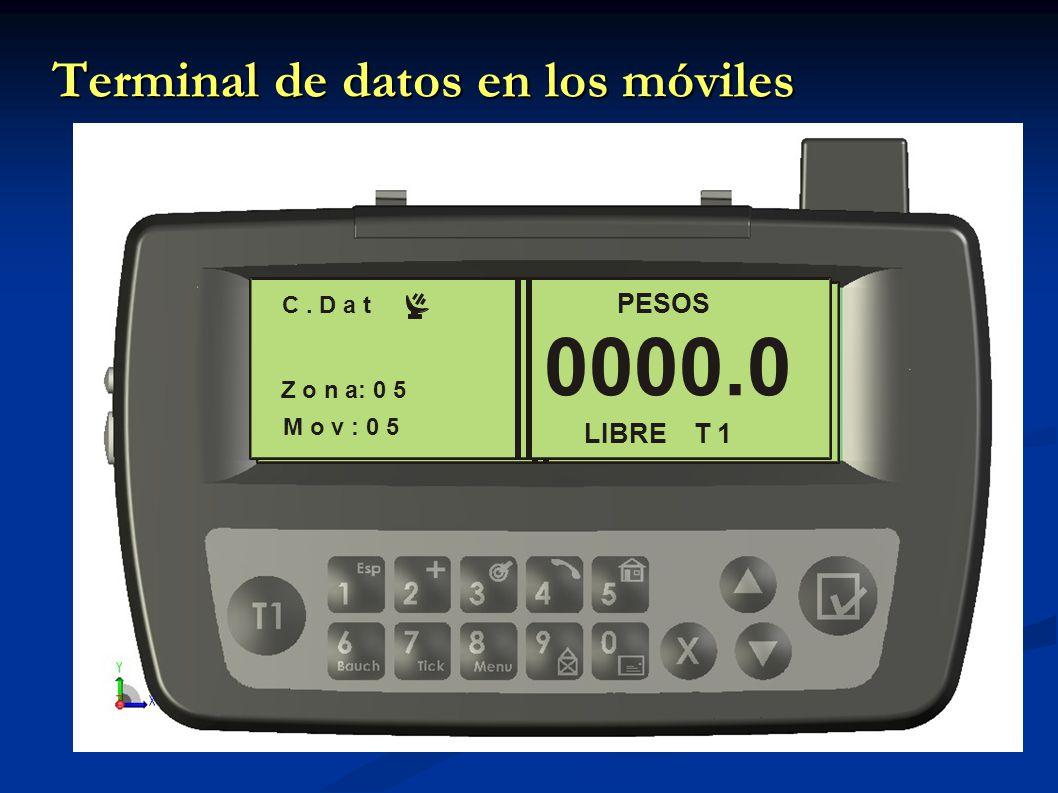 Terminal de datos en los móviles