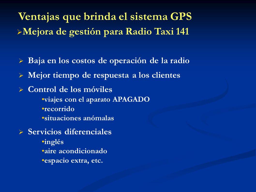 Ventajas que brinda el sistema GPS