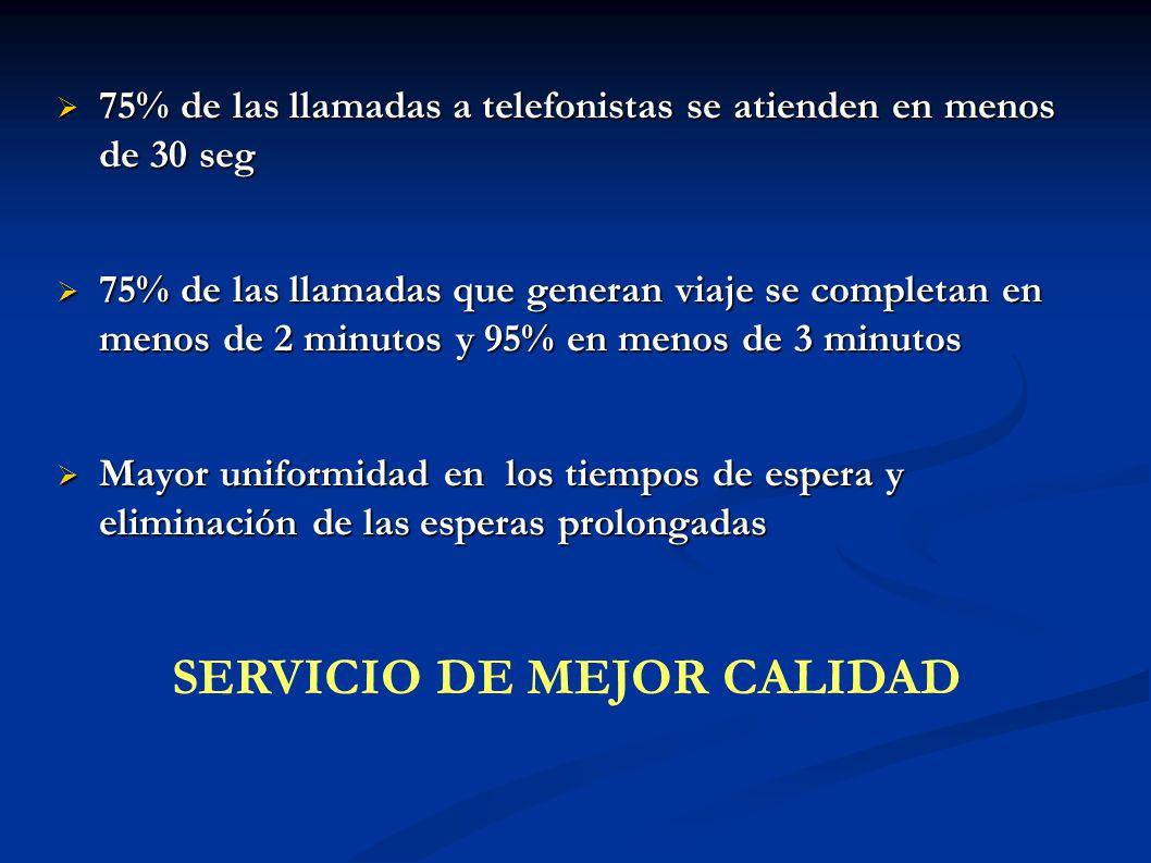 SERVICIO DE MEJOR CALIDAD