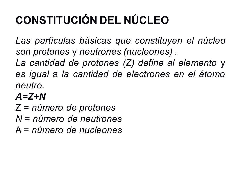 CONSTITUCIÓN DEL NÚCLEO
