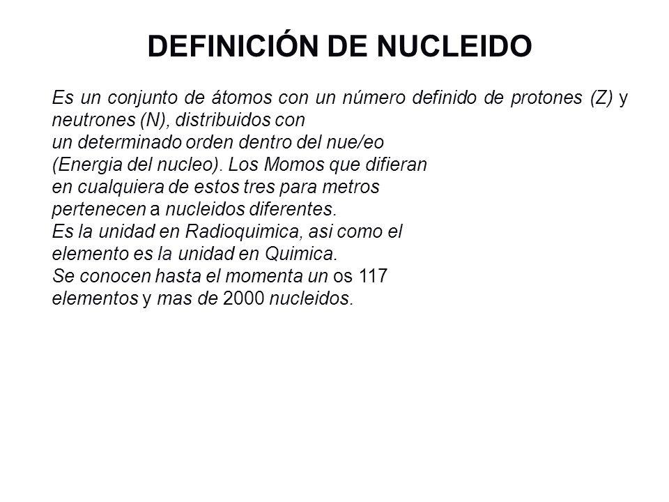 DEFINICIÓN DE NUCLEIDO