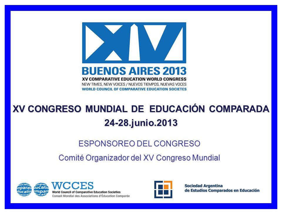 XV CONGRESO MUNDIAL DE EDUCACIÓN COMPARADA