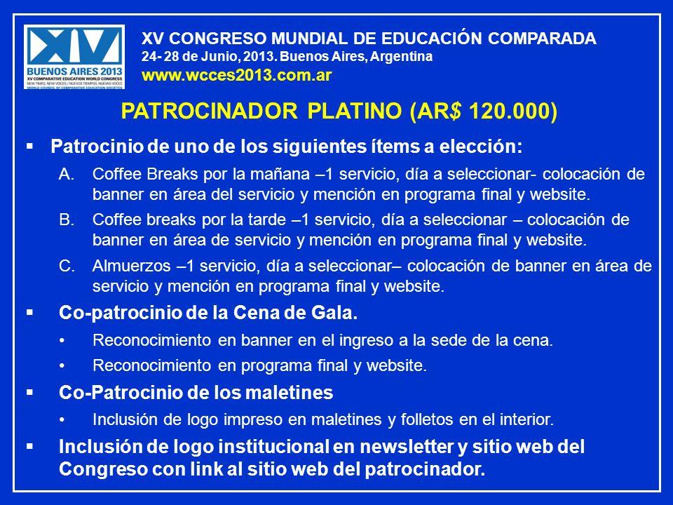PATROCINADOR PLATINO (AR$ 120.000)