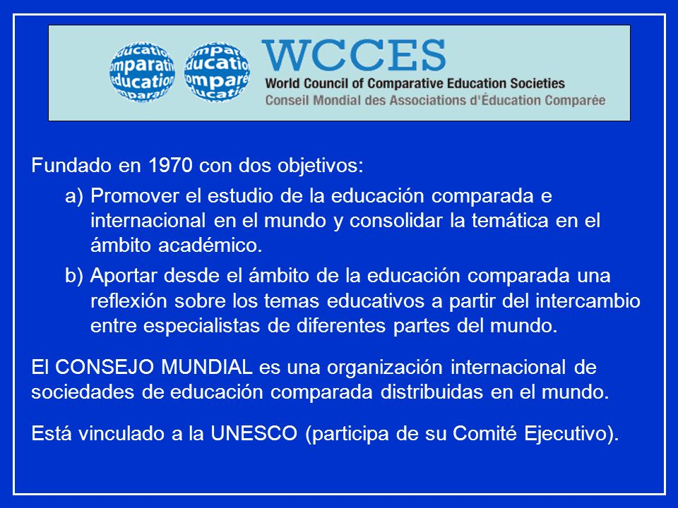 Fundado en 1970 con dos objetivos: