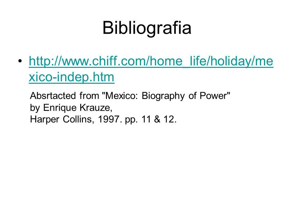 Bibliografia http://www.chiff.com/home_life/holiday/mexico-indep.htm