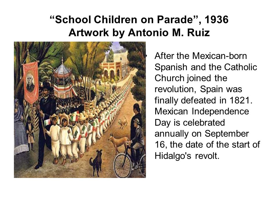 School Children on Parade , 1936 Artwork by Antonio M. Ruiz