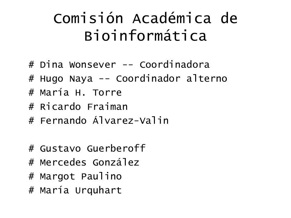 Comisión Académica de Bioinformática