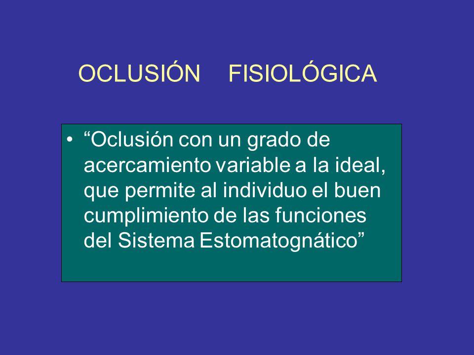 OCLUSIÓN FISIOLÓGICA