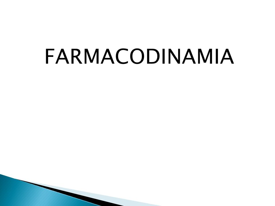 FARMACODINAMIA
