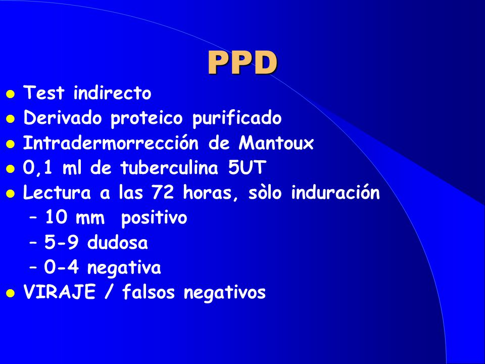 PPD Test indirecto Derivado proteico purificado