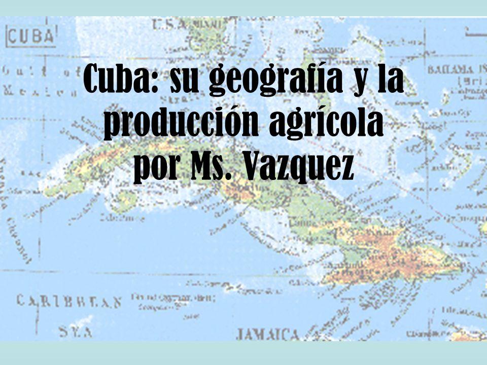 Cuba: su geografía y la producción agrícola por Ms. Vazquez