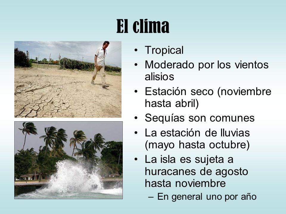 El clima Tropical Moderado por los vientos alisios