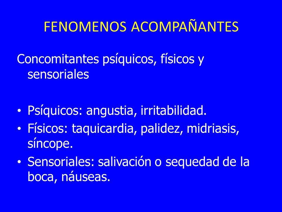 FENOMENOS ACOMPAÑANTES