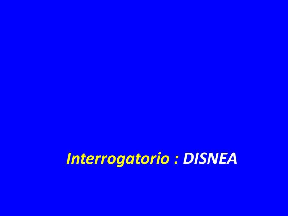 Interrogatorio : DISNEA