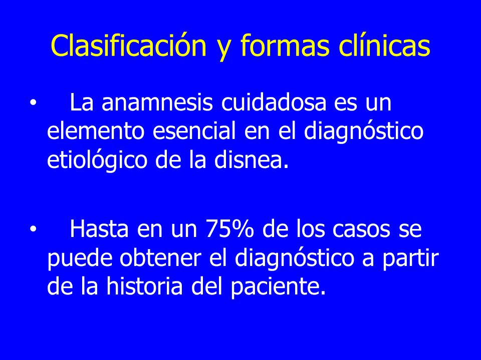 Clasificación y formas clínicas