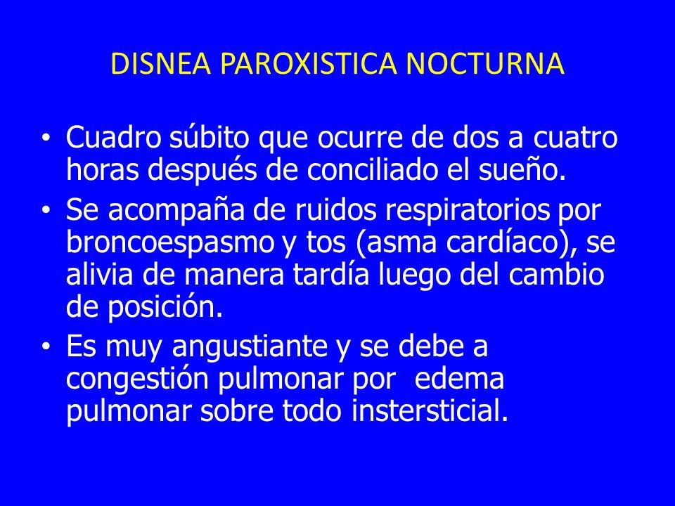 DISNEA PAROXISTICA NOCTURNA