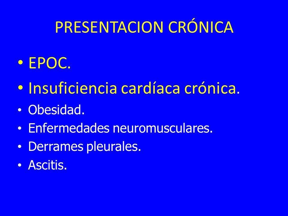 Insuficiencia cardíaca crónica.